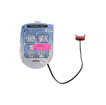 Trainingselektroden Defibtech kinderen