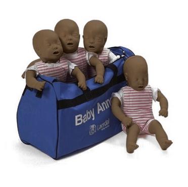 Laerdal Baby Anne donker 4 stuks in draagtas