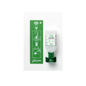 Plum oogspoelstation 1 fles 500ml inclusief wandhouder