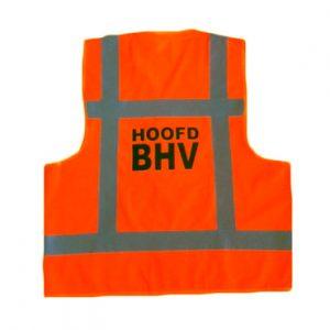 Hesje oranje opdruk hoofd BHV
