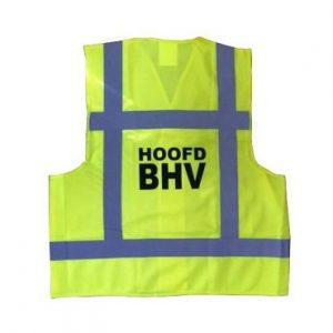 Hesje geel opdruk hoofd BHV