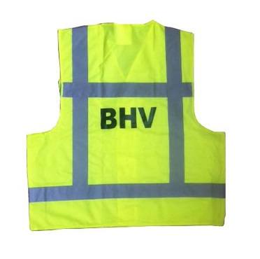 Hesje geel opdruk BHV