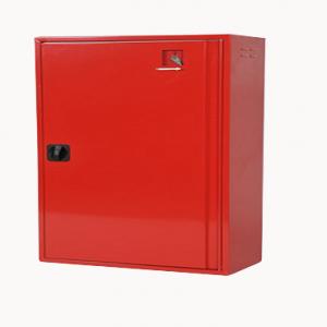 BHV kast rood met rooster en inslagruitje 112x68.5x32cm