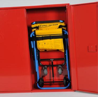 Quick BHV kast rood tbv Evac chair Afm: 110x125x30cm 4